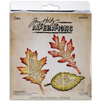 FACA SIZZIX - BIGZ DIE - TIM HOLTZ - TATTERED LEAVES