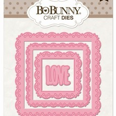 FACA BO BUNNY CRAFT - LOVE SQUARED DIES