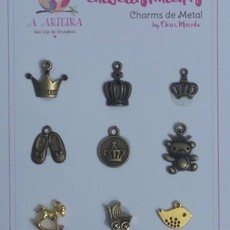 CHARMS DE METAL A ARTEIRA - BY CHRIS MACEDO - BABY 1