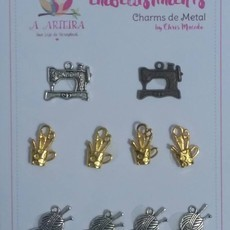 CHARMS DE METAL A ARTEIRA - BY CHRIS MACEDO - CRAFT