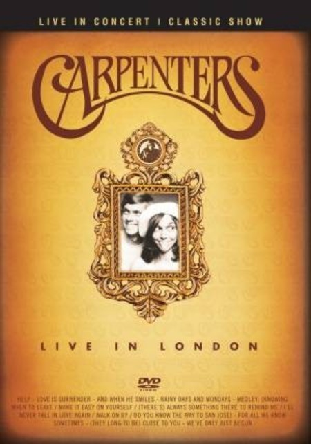 DVD CARPENTERS - LIVE IN LONDON (NOVO/LACRADO)