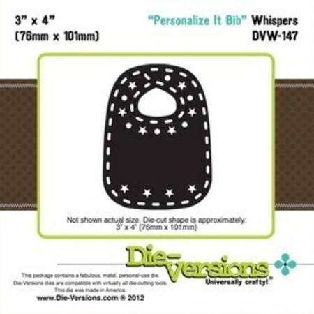 FACA DIE-VERSIONS - PERSONALIZE IT BIB