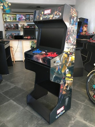 "Bartop ARCADE com HyperSpin - LED 23"" + BASE"