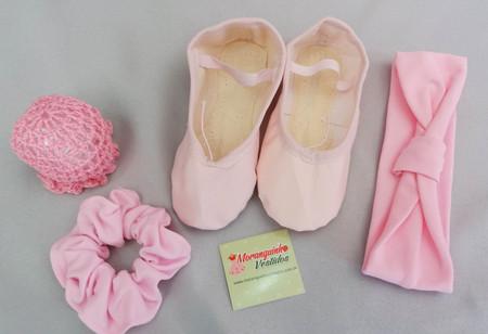 c47ac05b58 Kit 4 Ballet Sapatilha + cabelo - Moranguinho Vestidos