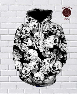 Moletom Black Skulls