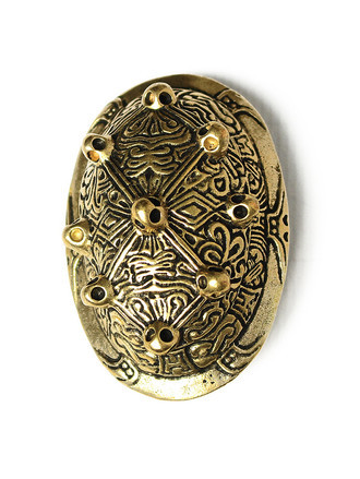 Broche Oval Feminino da Era Viking