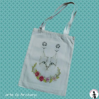 Ecobag Blue Eyes - arte Gi Archanjo