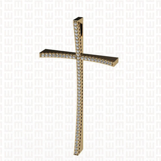 Crucifixo com Diamantes