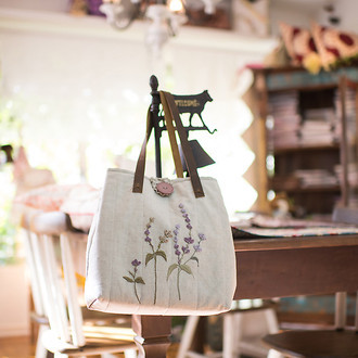 KIT BORDADO E PATCHWORK | BOLSA LAVANDA