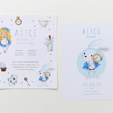 Convite digital + save the date Alice