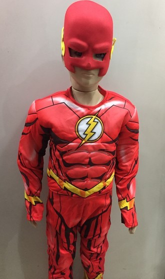 Fantasia The Flash Infantil com Peitoral Longo - Barão das Mágicas