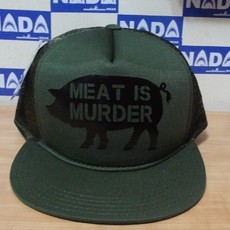 Boné Meat is Murder verde militar Nada Wear