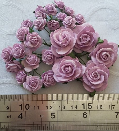 FLORES WILD ORCHID CRAFTS - KIT OPEN ROSES - LILAC