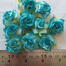 FLORES WILD ORCHID CRAFTS - KIT WILD ROSES 30mm -  TURQUOISE