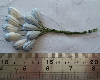 FLORES WILD ORCHID CRAFTS - TULIP FLOWERS -  BLUE
