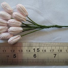 FLORES WILD ORCHID CRAFTS - TULIP FLOWERS -  BABY PINK