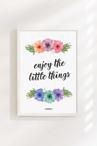 Poster - Enjoy the little things