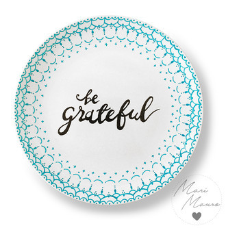Prato decorativo Be Grateful (20x20cm)