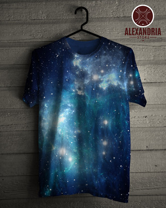 Camiseta Blue Space Nebula