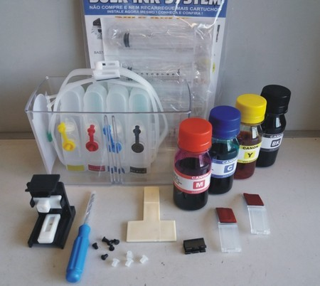 BULK INK HP 2136 C/SNAP FILL + 200ML TINTA + video aula recarga 664