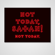 Not Today, Satan! (Poster)