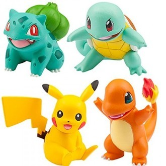 MONCOLLE-EX 20TH POKEMON Pikachu, Charmander, Squirtle e Bulbassauro