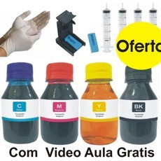 Kit Recarga 400ml Corante + Snap Fill Canon MG2410 MG2910 MG3010