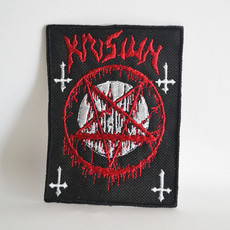 Patch Logo do Krisiun + Pentagrama Bordado