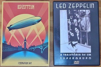 Lote 2 DVD´s Led Zeppelin (Celebration Day + A Trajetória )