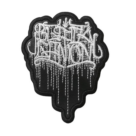 BLACK GANION  Official Embroidered Patch (White)