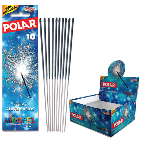 CX DE VELA POLAR COM 100 ENVELOPES COM 10 UNIDADES - EXCLUSIVA PARAF