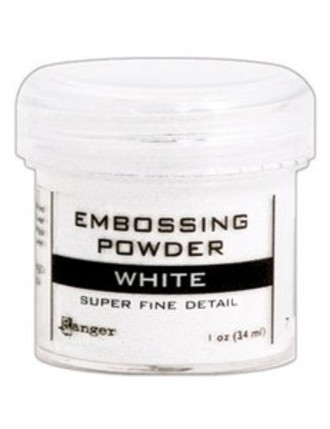 PÓ PARA EMBOSS - EMBOSSING POWDER RANGER - WHITE SUPER FINE DETAIL