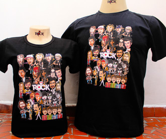 Mitos do Rock - Camiseta Exclusiva PRETA