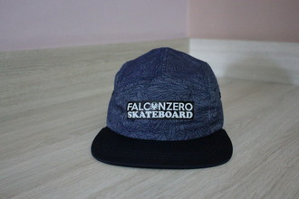 Boné Five Panel Blue Plant Falcon Zero Skateboard