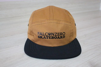 Boné Five Panel Marron Falcon Zero Skateboard