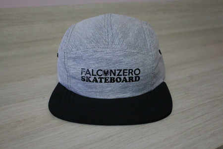 Boné Five Panel Cinza 01 Falcon Zero Skateboard