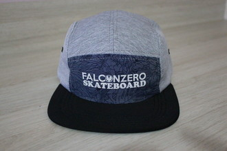 Boné Five Panel Cinze and plant Falcon Zero Skateboard