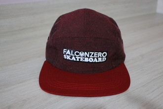 Boné Five Panel Red Falcon Zero Skateboard