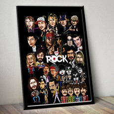 Mitos do Rock - Poster com moldura