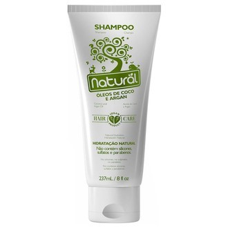Shampoo Natural com Óleos de Coco e Argan (237ml)