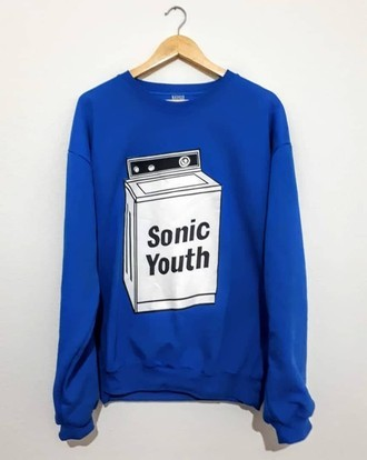 ​Moletom SONIC YOUTH - WASHING MACHINE (COR AZUL)