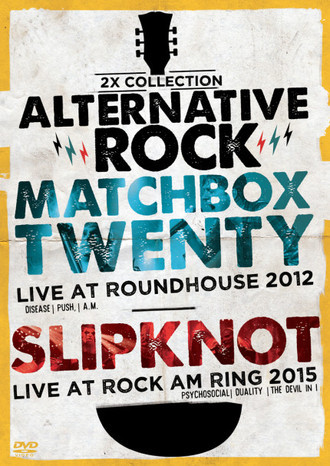 DVD 2X ALTERNATIVE ROCK VOL.1 - MATCHBOX TWENTY & SLIPKNOT (STRINGS)