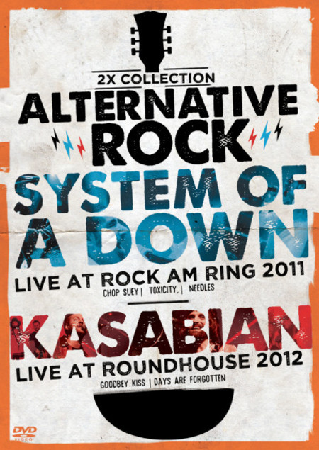 DVD 2X ALTERNATIVE ROCK VOL.3 - SYSTEM OF A DOWN & KASABIAN (STRINGS)