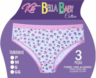 Kit Bella Donna Calçola Infantil Cotton Estampado Ref. 931