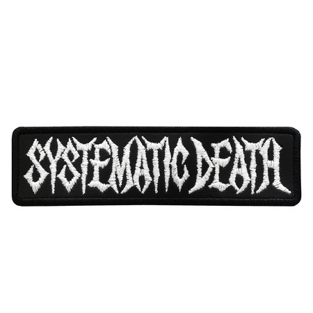 SYSTEMATIC DEATH Logo 1  Official Embroidered Patch