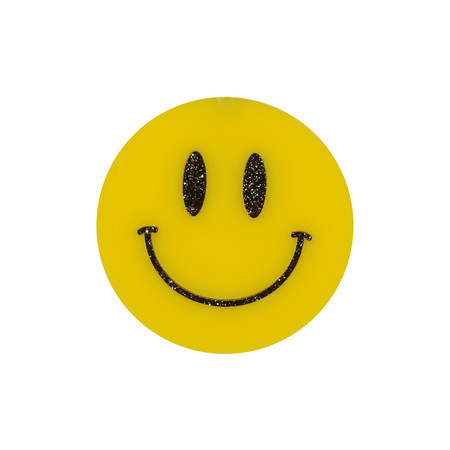Broche ou Imã Smiley BASFOND + OH♥QUERIDA!