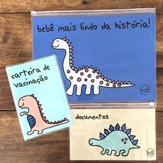 KIT DOCUMENTOS BABY DINOSSAURO