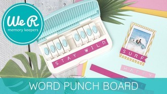 WORD PUNCH BOARD - WE R - Furador Alfabeto
