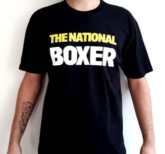 ​Camiseta THE NATIONAL - BOXER (COR PRETA)
