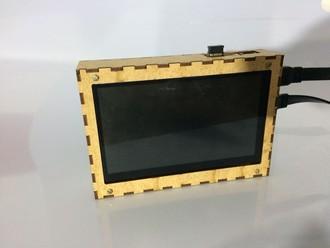 Case Para Raspberry e Tela de 7 polegadas